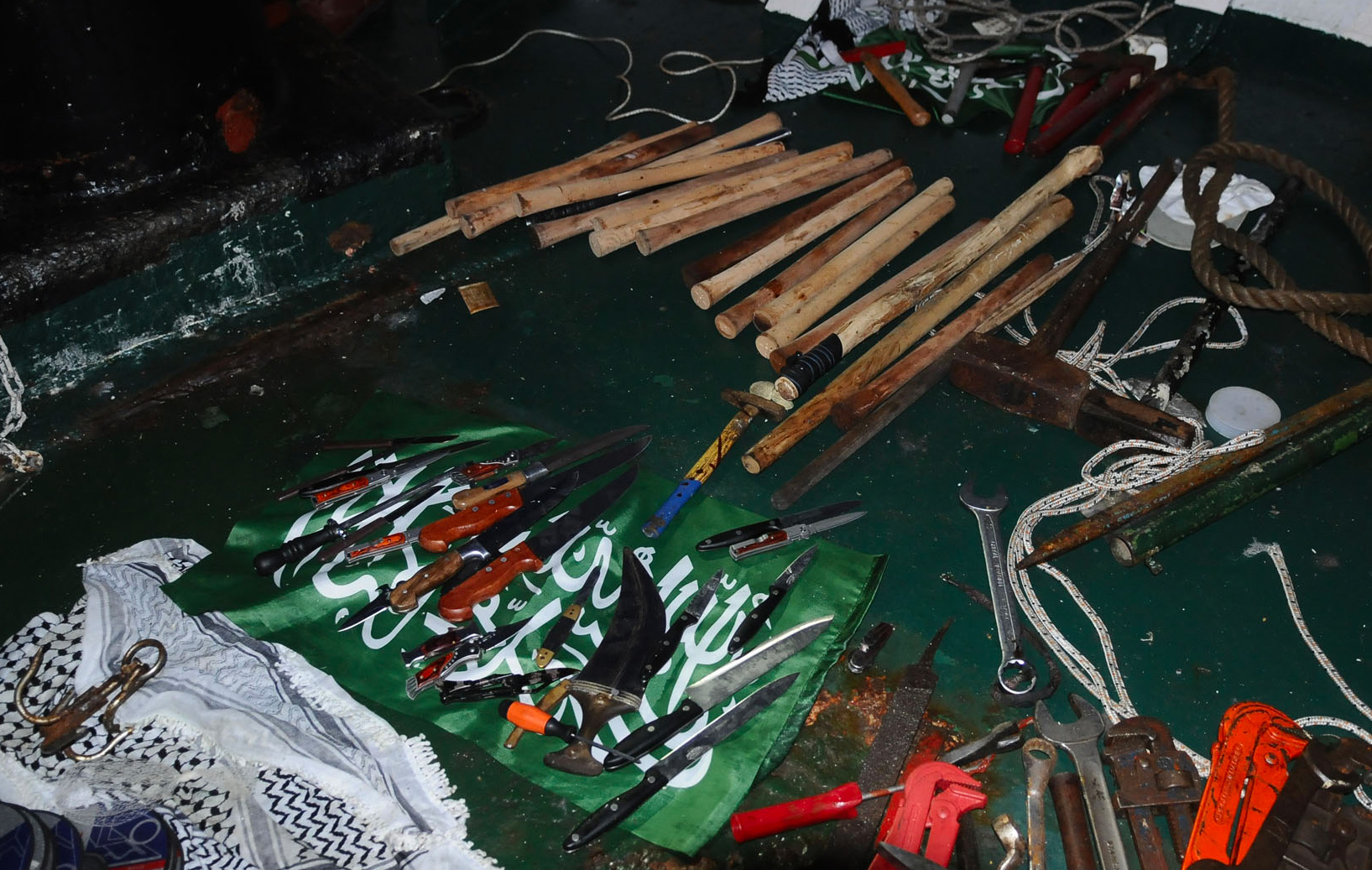 Lethal Weapons Cache aboard Mavi Mamara