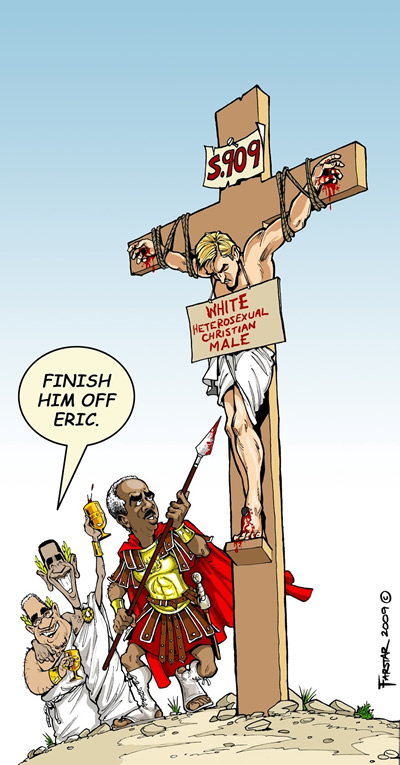 AG Eric Holder in action subverting Christianity