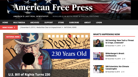 American Free Press website
