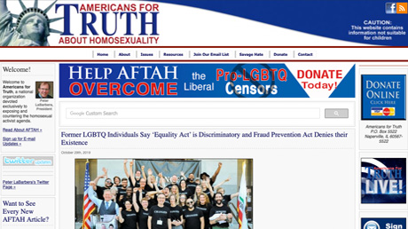 Americans for Truth about Homosexuality website